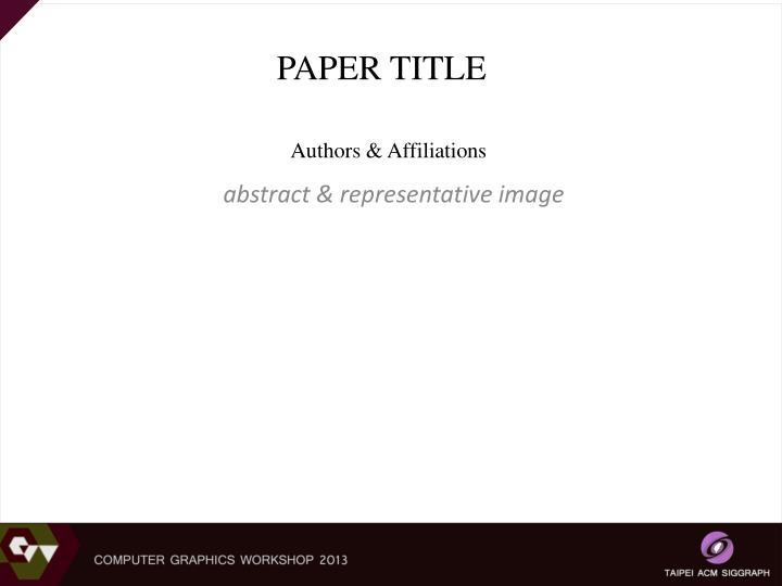 paper title n.