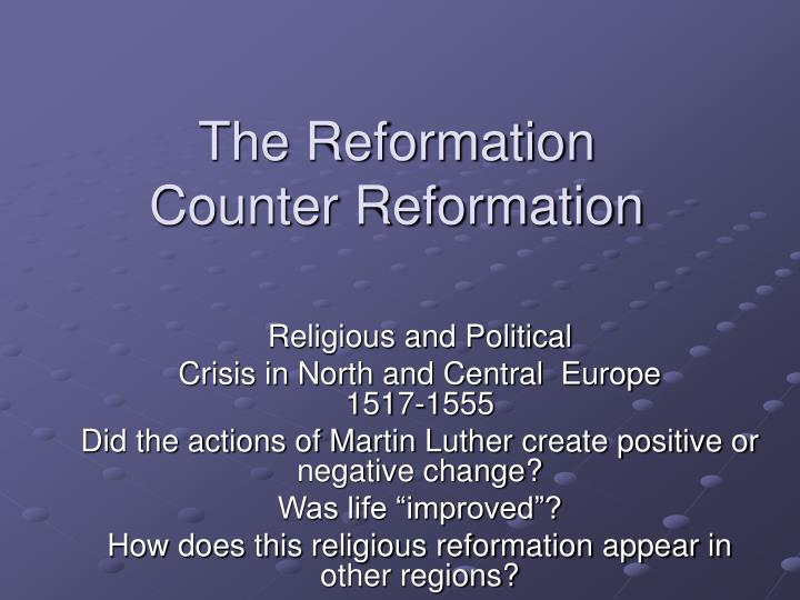 the reformation counter reformation n.