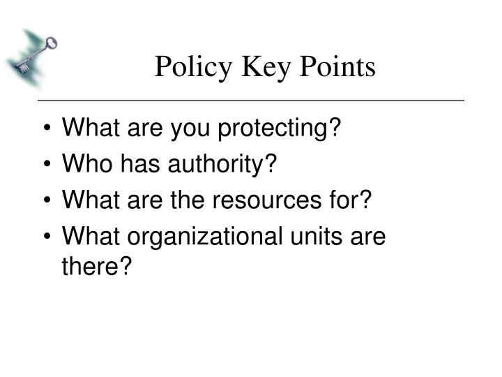 Policy Key Points