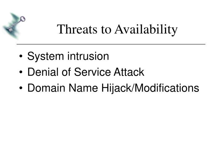 Threats to Availability