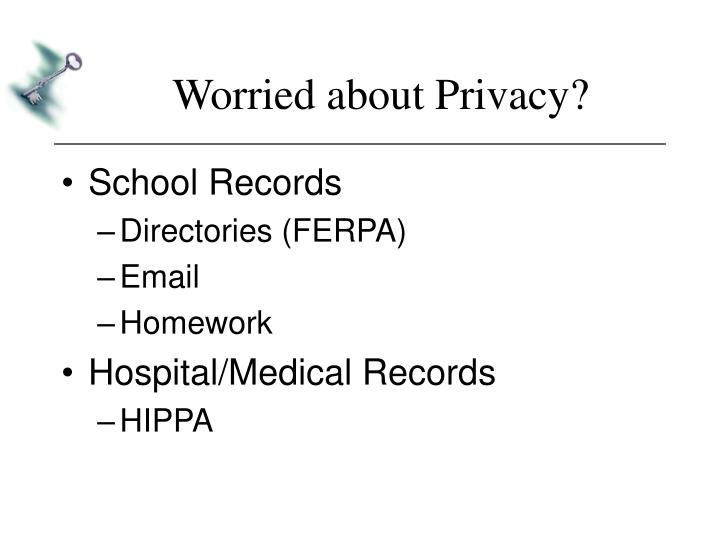 Worried about Privacy?