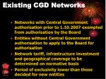existing cgd networks