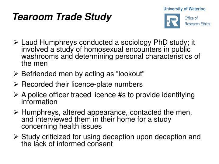 Tearoom Trade Study
