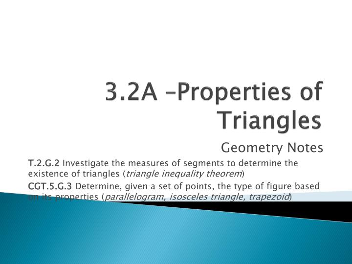 PPT 3 2A Properties Of Triangles PowerPoint Presentation