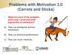 problems with motivation 2 0 carrots and sticks