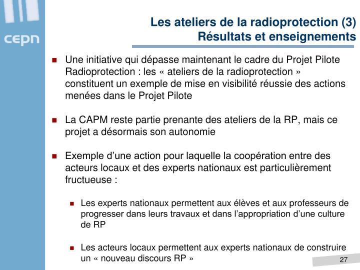 Les ateliers de la radioprotection (3)