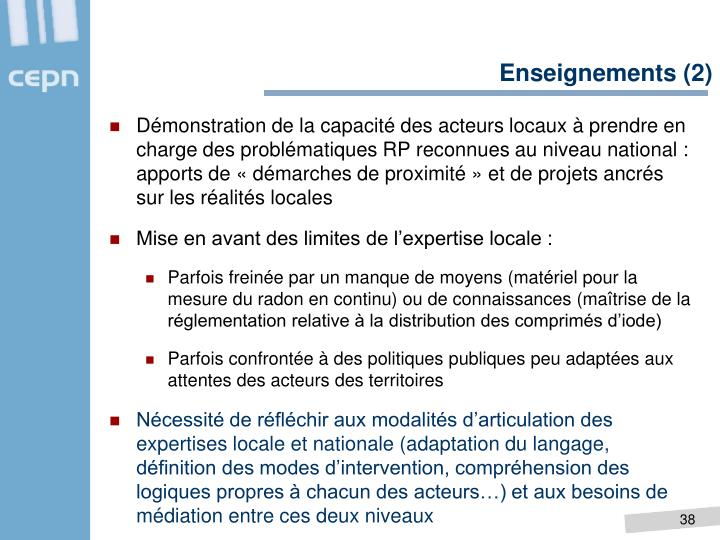 Enseignements (2)
