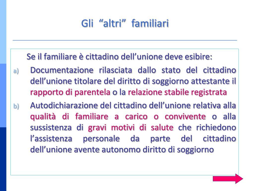 PPT - DIRITTO DI CIRCOLAZIONE E SOGGIORNO DEI CITTADINI COMUNITARI E ...