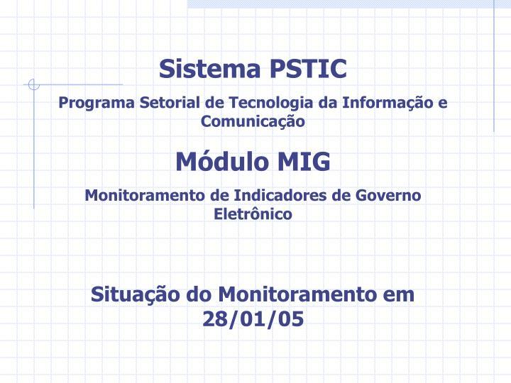 Sistema PSTIC