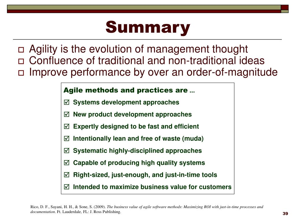 Ppt Business Value Of Agile Methods Powerpoint Presentation Free Download Id 3747651