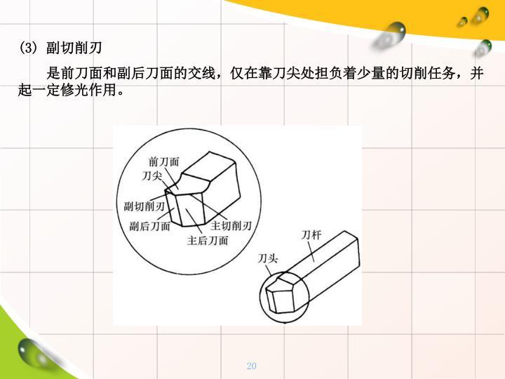 (3) 副切削刃