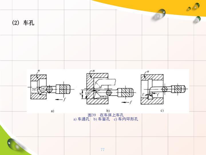 (2) 车孔
