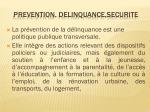 prevention delinquance securite