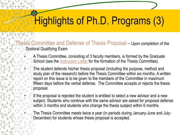 defending a thesis proposal Academic martial arts: defending your phd read on for my tips on defending a phd a poor thesis proposal delays graduation and reduces the odds of success.