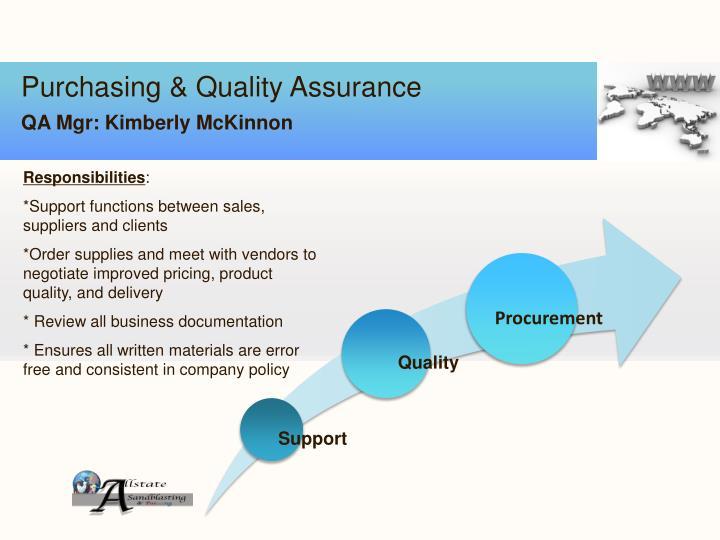 Purchasing & Quality Assurance