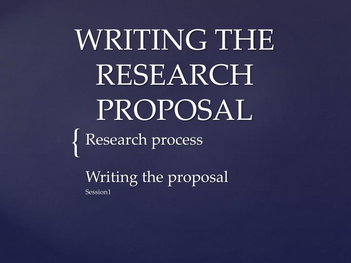 writing the research proposal n.