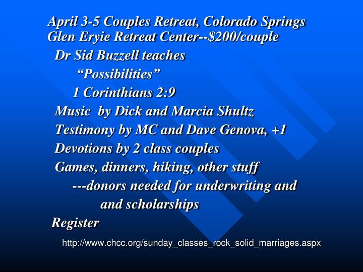 couples classes colorado springs