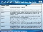 itu t q5 sg11 published standards 1