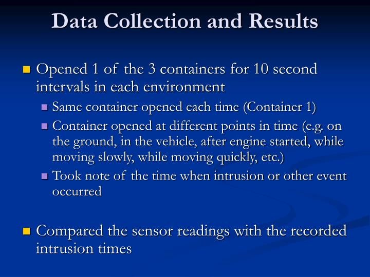 Data Collection and Results