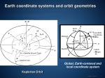 earth coordinate systems and orbit geometries