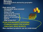 metadata key building block abstracting geographic knowledge