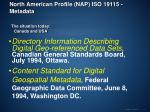 north american profile nap iso 19115 metadata