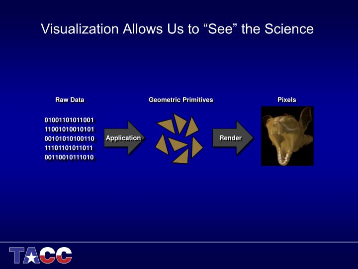 "Visualization Allows Us to ""See"" the Science"
