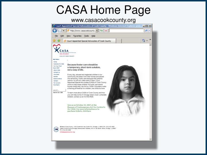CASA Home Page