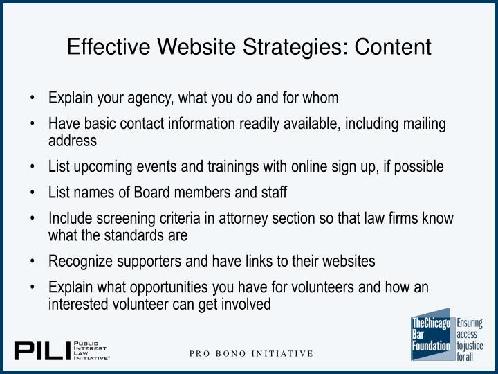 Effective Website Strategies: Content