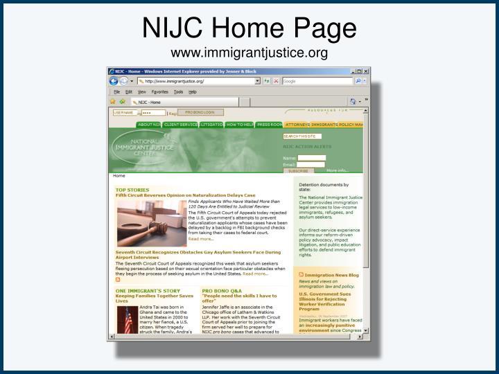 NIJC Home Page