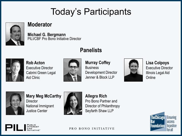 Today s participants