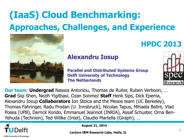 iaas cloud benchmarking approaches challenges and experience n.