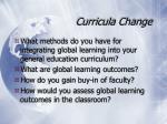 curricula change