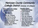 maricopa county community college district arizona 10 colleges