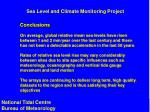 sea level and climate monitoring project