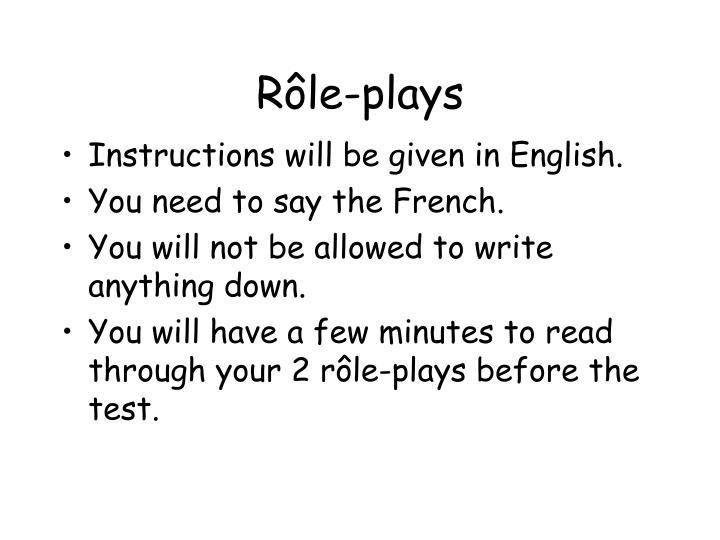 R le plays
