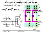 computing the output capacitance