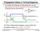 propagation delay in timing diagrams