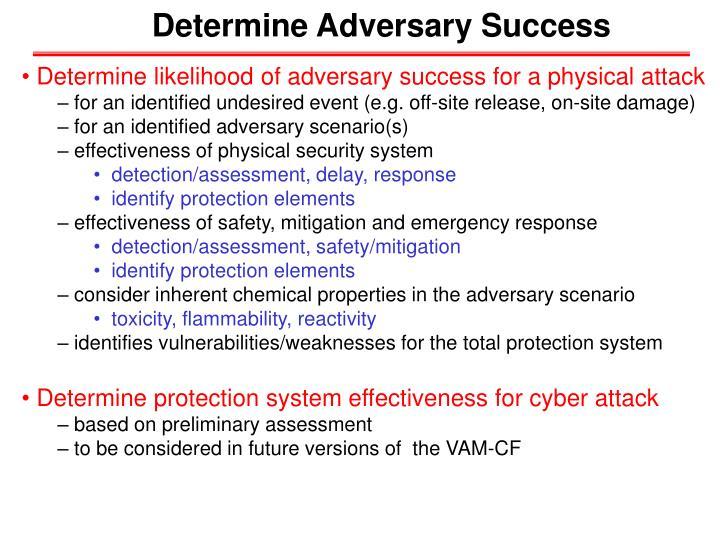 Determine Adversary Success