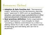 permanency defined
