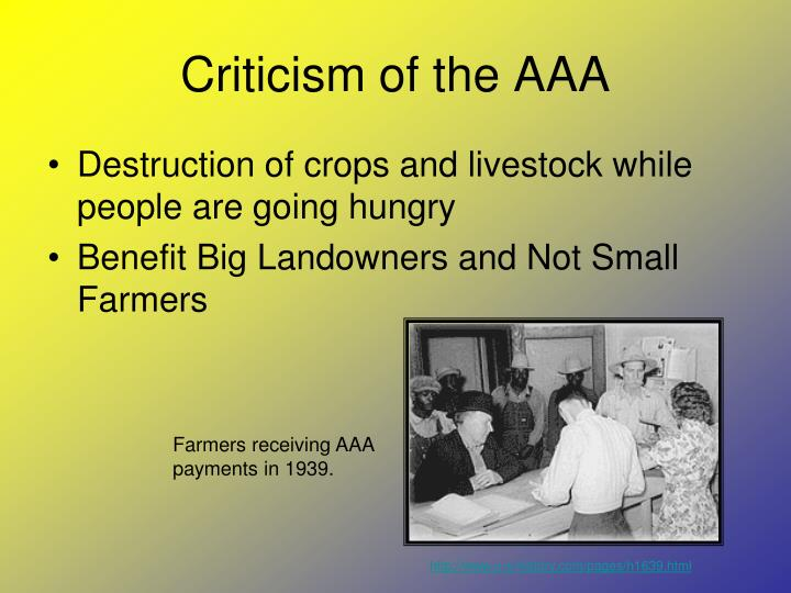 Criticism of the AAA