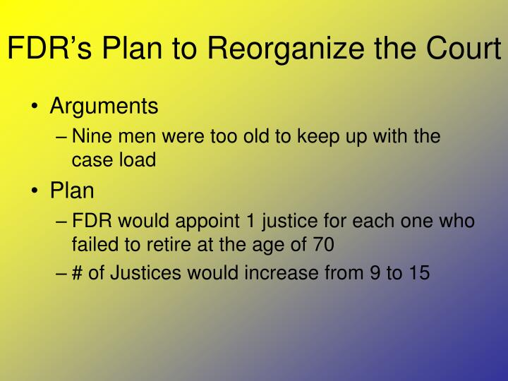 FDR's Plan to Reorganize the Court