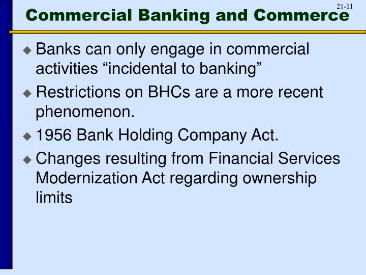 Commercial Banking and Commerce