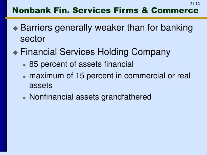 Nonbank Fin. Services Firms & Commerce