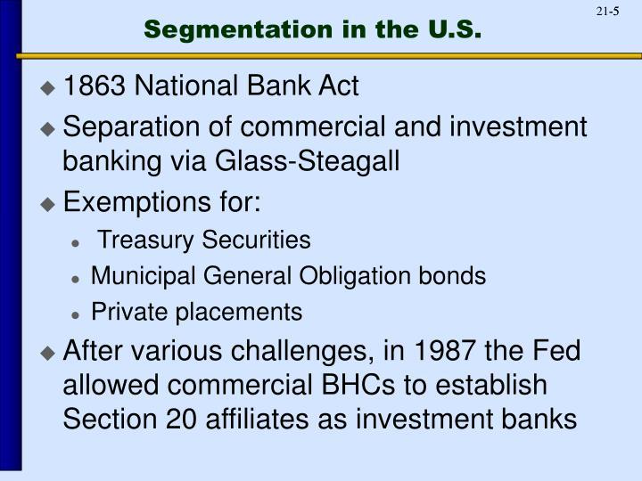 Segmentation in the U.S.