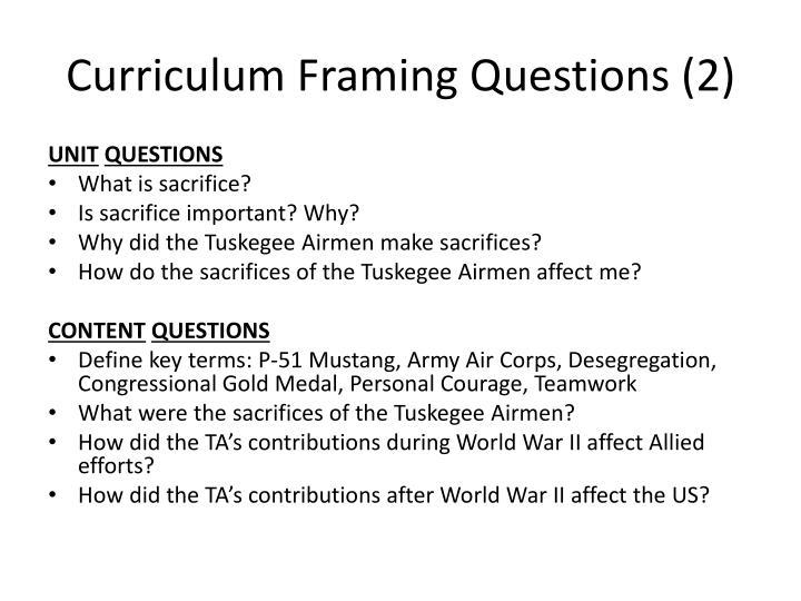 Curriculum Framing Questions (2)