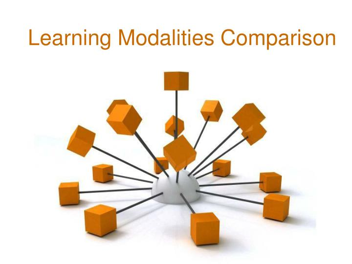 Learning Modalities Comparison