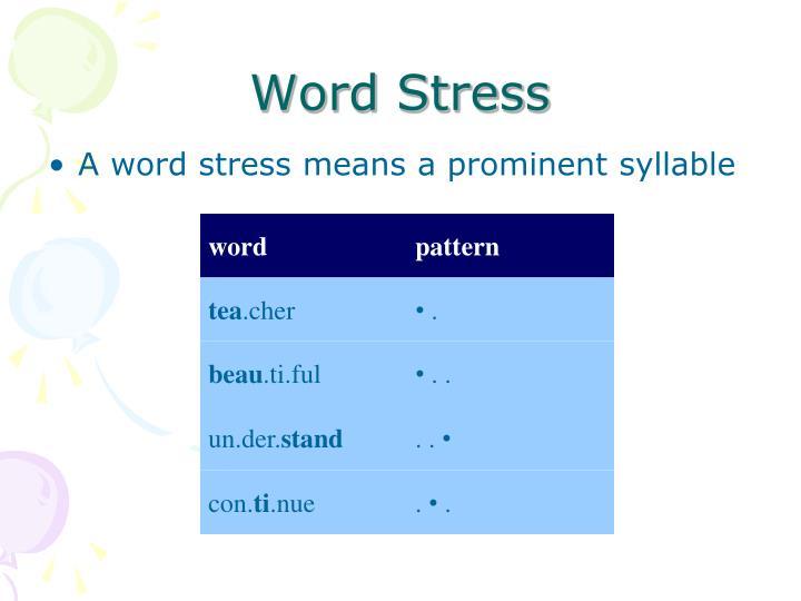 Word Stress