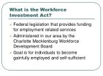 what is the workforce investment act