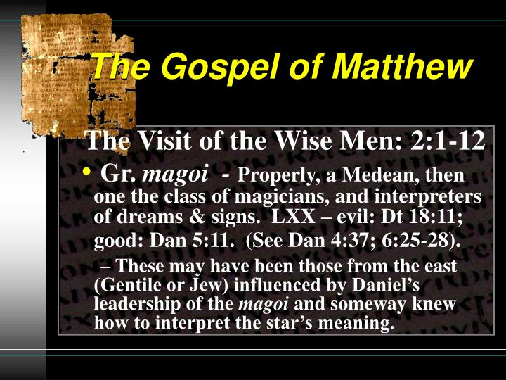 The gospel of matthew2